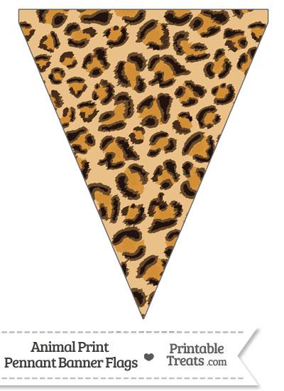 Leopard Print Pennant Banner Flag from PrintableTreats.com