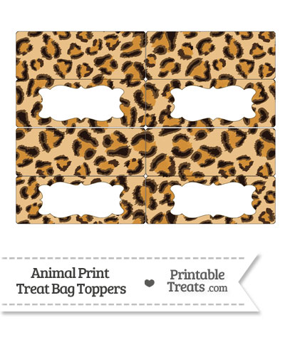 Leopard Print Treat Bag Toppers from PrintableTreats.com