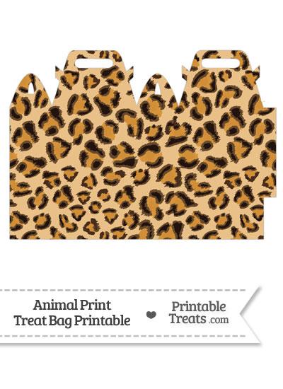 Leopard Print Treat Bag from PrintableTreats.com