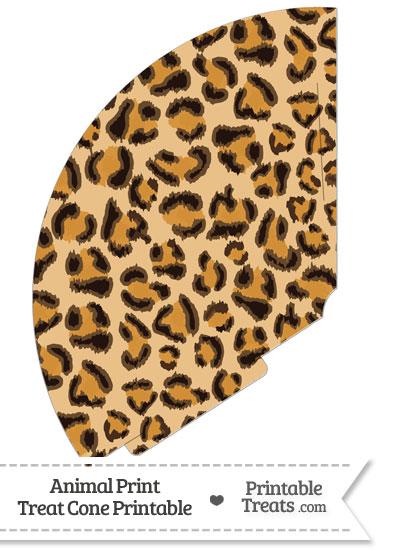 Leopard Print Treat Cone from PrintableTreats.com