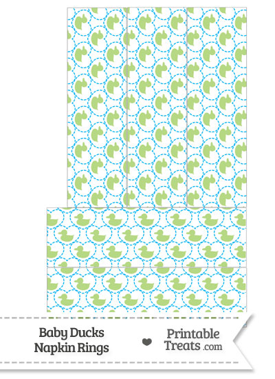 Light Green Baby Ducks Napkin Rings from PrintableTreats.com