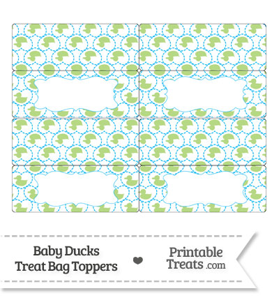 Light Green Baby Ducks Treat Bag Toppers from PrintableTreats.com