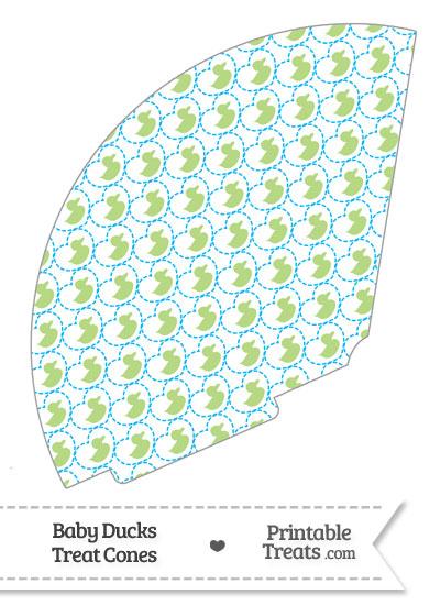 Light Green Baby Ducks Treat Cone from PrintableTreats.com