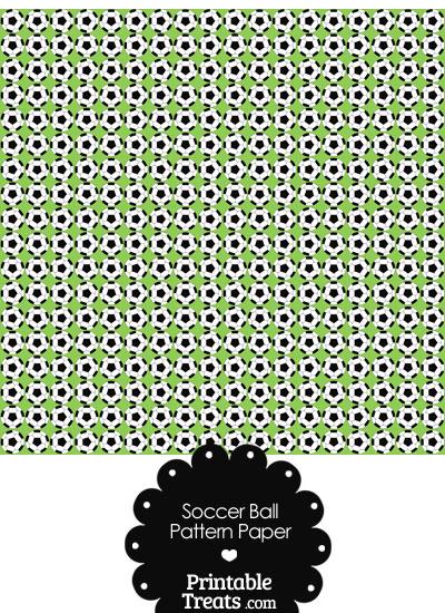 Light Green Soccer Ball Pattern Digital Scrapbook Paper from PrintableTreats.com
