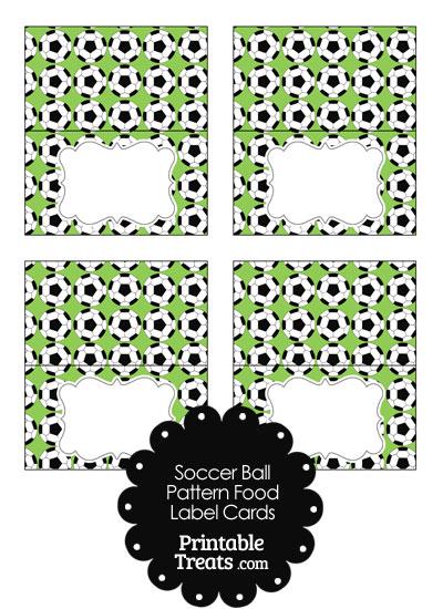 Light Green Soccer Ball Pattern Food Labels from PrintableTreats.com