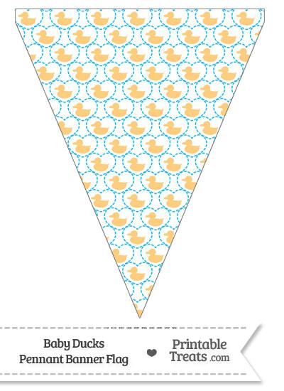 Light Orange Baby Ducks Pennant Banner Flag from PrintableTreats.com