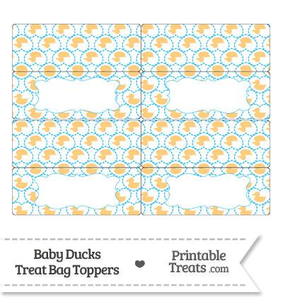 Light Orange Baby Ducks Treat Bag Toppers from PrintableTreats.com