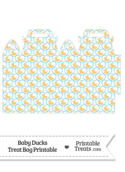 Light Orange Baby Ducks Treat Bag from PrintableTreats.com