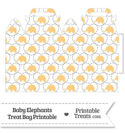 Light Orange Baby Elephants Treat Bag from PrintableTreats.com
