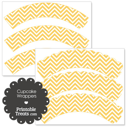 light orange chevron cupcake wrappers