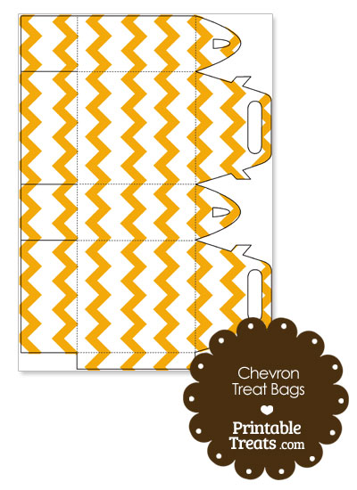 Light Orange Chevron Treat Bags to Print from PrintableTreats.com