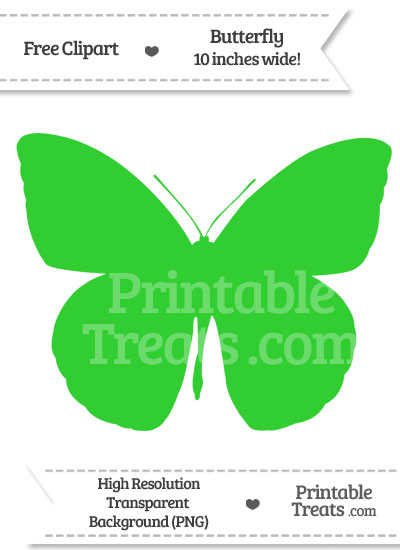 Lime Green Butterfly Clipart from PrintableTreats.com