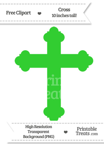 Lime Green Cross Clipart from PrintableTreats.com