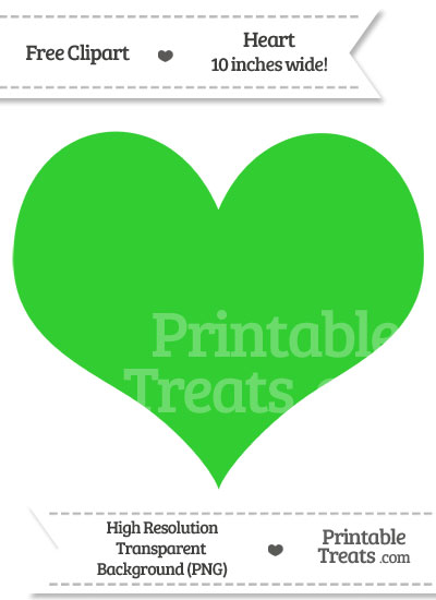 Lime Green Heart Clipart from PrintableTreats.com