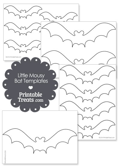 Little Mousy Bat Templates from PrintableTreats.com