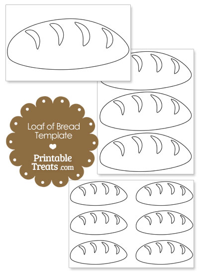 Loaf of Bread Shape Template from PrintableTreats.com