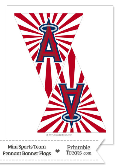 Los Angeles Angels Mini Pennant Banner Flags from PrintableTreats.com