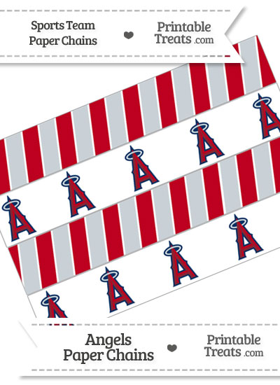 Los Angeles Angels Paper Chains from PrintableTreats.com