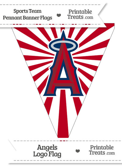Los Angeles Angels Pennant Banner Flag from PrintableTreats.com