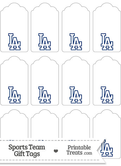 Los Angeles Dodgers Gift Tags from PrintableTreats.com