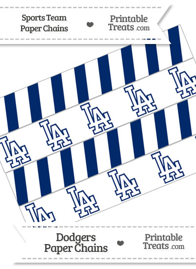 Los Angeles Dodgers Paper Chains from PrintableTreats.com