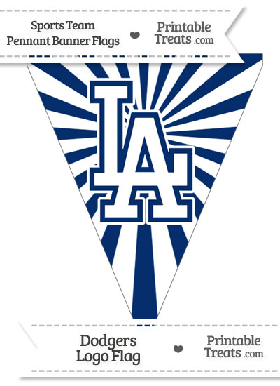 Los Angeles Dodgers Pennant Banner Flag from PrintableTreats.com