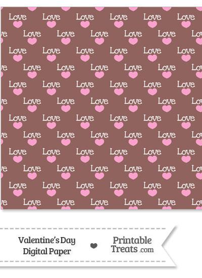 Love Digital Scrapbook Paper from PrintableTreats.com