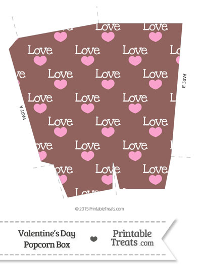 Love Popcorn Box from PrintableTreats.com
