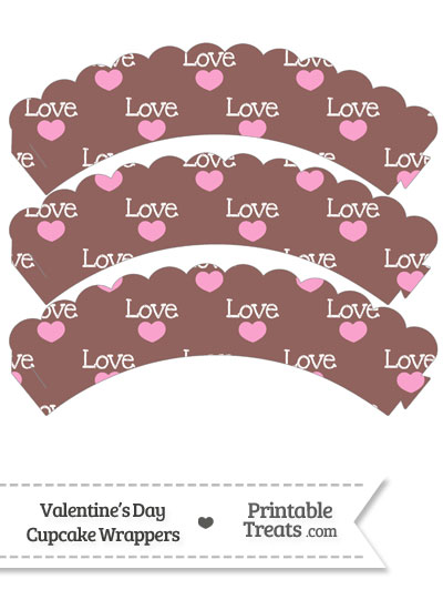 Love Scalloped Cupcake Wrappers from PrintableTreats.com