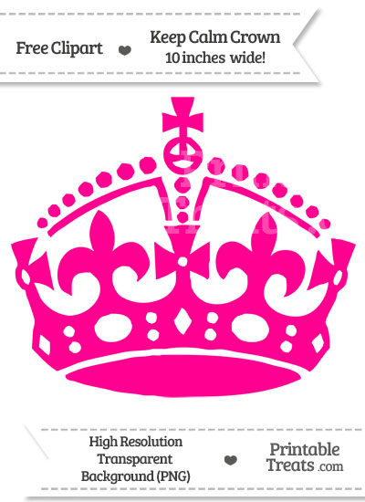 Magenta Keep Calm Crown Clipart from PrintableTreats.com
