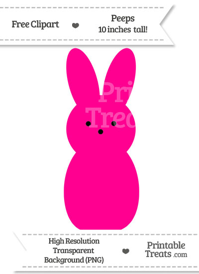 Magenta Peeps Clipart from PrintableTreats.com