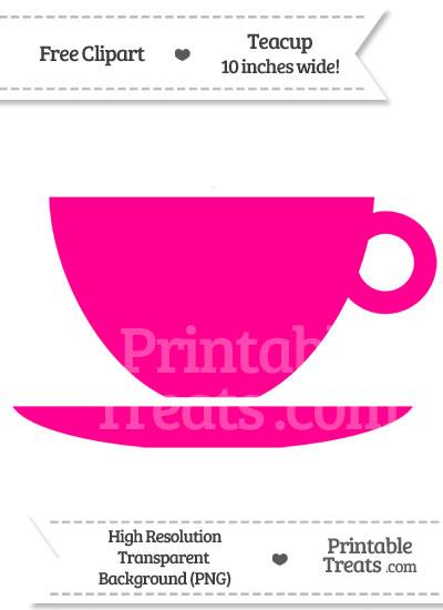 Magenta Teacup Clipart from PrintableTreats.com