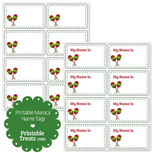 maraca name tags