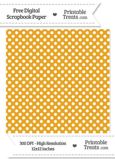 Marigold Polka Dot Digital Paper from PrintableTreats.com