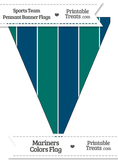 Mariners Colors Pennant Banner Flag from PrintableTreats.com