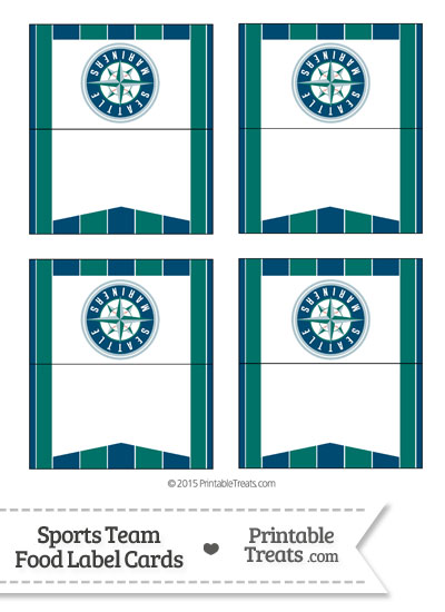 Mariners Food Label Buffet Cards from PrintableTreats.com