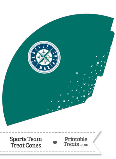 Mariners Treat Cone Printable from PrintableTreats.com