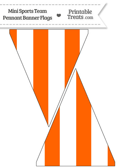 Marlins Colors Mini Pennant Banner Flags from PrintableTreats.com