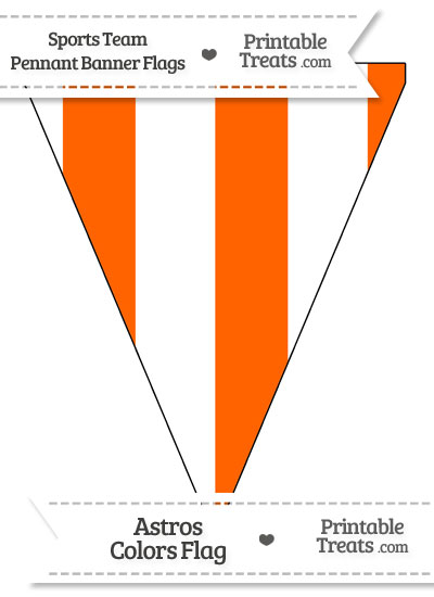 Marlins Colors Pennant Banner Flag from PrintableTreats.com