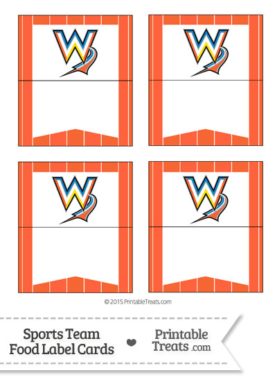 Marlins Food Label Buffet Cards from PrintableTreats.com