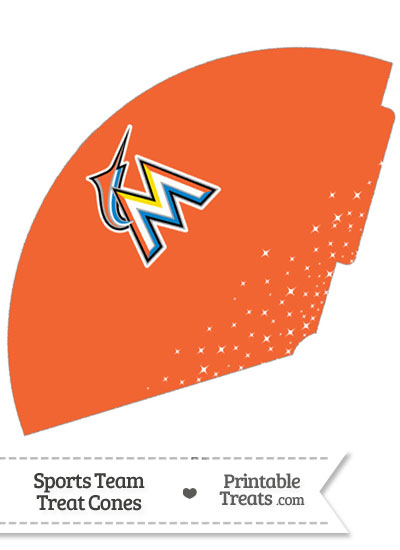 Marlins Treat Cone Printable from PrintableTreats.com