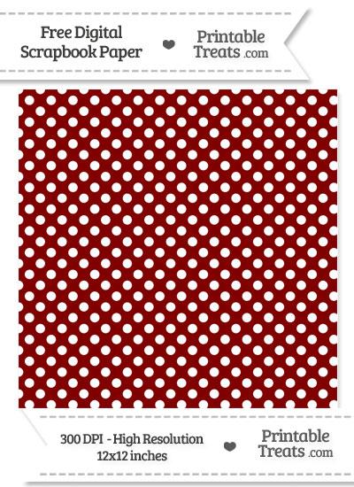 Maroon Polka Dot Digital Paper from PrintableTreats.com