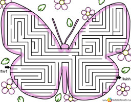 fun mazes for kids butterfly