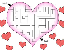fun mazes for kids heart