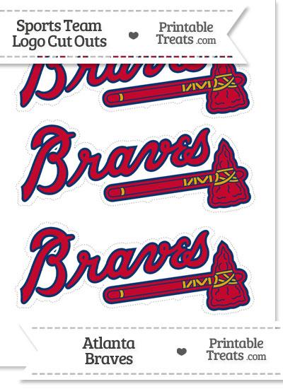 Medium Atlanta Braves Logo Cut Outs from PrintableTreats.com