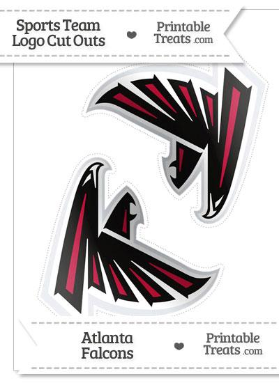 Medium Atlanta Falcons Logo Cut Outs from PrintableTreats.com