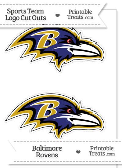 Medium Baltimore Ravens Logo Cut Outs from PrintableTreats.com