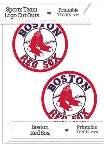 Medium Boston Red Sox Logo Cut Outs from PrintableTreats.com