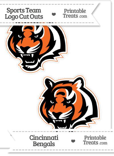 Medium Cincinnati Bengals Logo Cut Outs from PrintableTreats.com