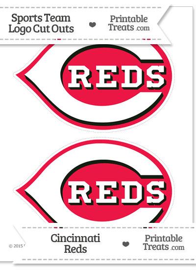 Medium Cincinnati Reds Logo Cut Outs from PrintableTreats.com